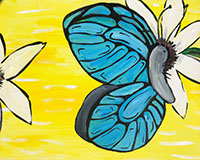 Blue Butterfly painting