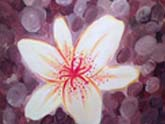 Lily Flower painting