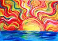 Sun and the Sea painting