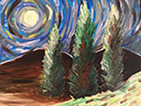 Vincent VanGogh Trees painting